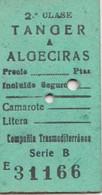 Ticket  Tanger Algeciras Compania TransMéditerranéa - World