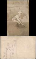 Ansichtskarte  Sport - Wintersport Junge Schlittschuhlauf - Fotokunst 1912 - Wintersport