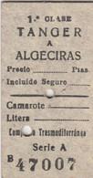 Ticket De Tanger à Algeciras  Compania TransMéditerranéa - World