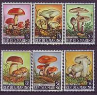SAN MARINO 891-896,unused,mushrooms - Unused Stamps