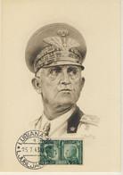 F. SPOLTORE - Ritratto Di Vittorio Emanuele III - Annullo Di Lubiana Del 25/7/1943 (1 Immagini) - Personnages