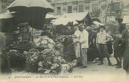 82 MONTAUBAN. Le Marché De La Place Nationale 1912 - Montauban