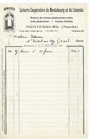 FACTURE-COURRIER- LETTRE : Laiterie Coopérative De Montebourg Et Du Cotentin , Année 1936 . - 1900 – 1949