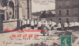 EPINAL : (88)  CARTE PHOTO Fête Dieu à Notre Dame 1908 Le Grand Séminaire CPA  INCONNUE - Epinal