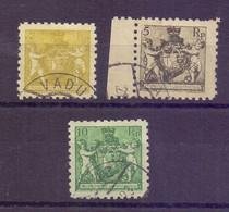 Liechtenstein 1921 - 3 Marken Aus MiNr 45/50 A Gestempelt - Michel 66,00 € (853) - Used Stamps