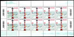 BRD - Mi 3615 10x = Bogen ✶✶ # - 60C  Leuchtfeuer Tinsdal,  Ausg.: 01.07.2021 - Unused Stamps