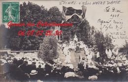 EPINAL : (88)  CARTE PHOTO Fête Dieu à Notre Dame 1908 Reposoir  CPA  INCONNUE - Epinal
