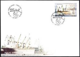 Latvia Lettland Lettonie 2011 (11) Sea Ports Of Latvia Freeport Of Riga  Ships Anchor (unaddressed FDC) - Lettland