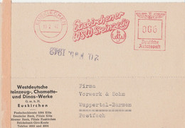 Deutsches Reich Firmenkarte Mit Freistempel AFS Euskirchen Euskirchener WSW Steinzeug 1942 - Machine Stamps (ATM)
