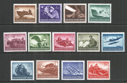 Germany REICH 1944 Year , Mint Stamps MNH (**) Mi. 873-85 - Nuevos