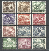 Germany REICH 1943 Year , Mint Stamps MNH (**) Mi. 831-42 - Nuevos