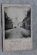 Cpa 1902, Crecy Sur Serre, Le Beffroi Et L'hôtel De Ville, Aisne 02 - Otros Municipios