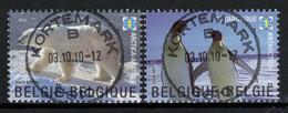 BELGIE: COB 3884/3885 Gestempeld. - Usados