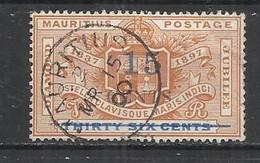 MAURITIUS 1899 -  DIAMOND JUBILEE SURCHARGED - USED OBLITERE GESTEMPELT USADO - Mauritius (...-1967)