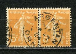 "FRANCE - TYPE SEMEUSE - N° Yvert 158 Obli. CàD ""ARGENTAN De 1924"" - 1877-1920: Période Semi Moderne"