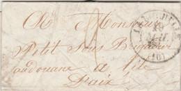 LAC LA ROCHELLE Charente Inférieure 19//5/1846 Taxe Manuscrite Pour Sous Brigadier Aux Douanes à L' Ile D' Aix - 1801-1848: Precursors XIX