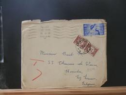 B5242 LETTRE G.B. AVEC CONTENU 1948 TAXEE 1.40 LEUVEN - Briefe U. Dokumente