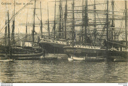 AB. GENOVA. Navi In Porto Voiliers Bateaux De Pêches - Pesca