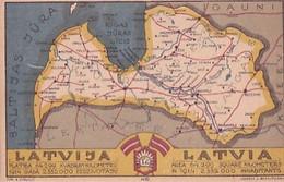 LATVIA     LATVIJA            CARTE GEOGRAPHIQUE - Letonia