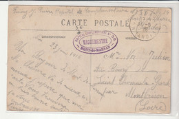 """Carte En Franchise Vue Mont De Marsan Et Cachet """" Hôpital Complémentaire N°38"""", 1916 - Covers & Documents"""