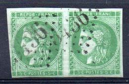 YT N° 42Ba Paire - Cote: 600,00 € - 1870 Emission De Bordeaux