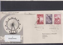 Ungarn Michel Cat.No. FFC 1956 Budapest - Vienna - Brieven En Documenten