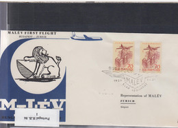 Ungarn Michel Cat.No. FFC 1959 Budapest - Zürich - Brieven En Documenten
