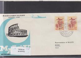 Ungarn Michel Cat.No. FFC 1960 Budapest - Rom - Brieven En Documenten