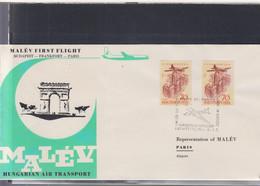 Ungarn Michel Cat.No. FFC 1961 Budapest - Paris - Brieven En Documenten