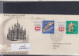 Ungarn Michel Cat.No. FFC 1964 Budapest - Mailand - Brieven En Documenten