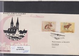 Ungarn Michel Cat.No. FFC 1965 Budapest - Zagreb - Brieven En Documenten