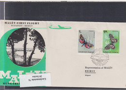 Ungarn Michel Cat.No. FFC 1966 Budapest - Beirut - Covers & Documents