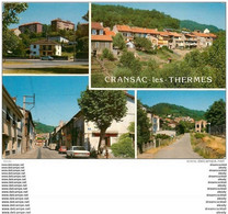 Photo Cpsm Cpm 12 CRANSAC-LES-THERMES. Les H.L.M Et Rue A. France 1987 - Autres Communes