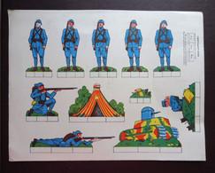 Planche Publicitaire De Découpage : Soldats - Maison De La Bonne Chaussure : LA BOTTE D'OR à Châtellerault - Publicidad