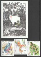 NW1426 2002 SOMALIA SOOMAALIYA FROGS REPTILES & AMPHIBIANS #955-957+BL93 MICHEL 29 EURO MNH - Frogs