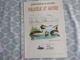 BELG.2014 QUINZAINE DE LA NATURE (le Grébe Huppé)  (A4 Formaat) - 1985-.. Vogels (Buzin)