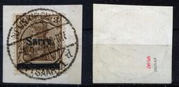 Saargebiet Michel-Nr. 3I Vollstempel Auf Briefstück - Geprüft - Used Stamps