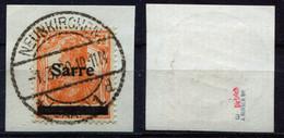 Saargebiet Michel-Nr. 5aI Vollstempel Auf Briefstück - Geprüft - Used Stamps