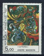 "France, André Masson, Peintre, ""La Pythie"", 1984, Obl, TB - Used Stamps"