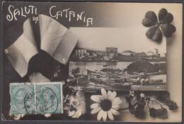 Italia  - CATANIA Saluti Da Catania - Foto Cartolina - Catania