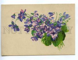 218764 GERMANY Violets Flowers Old Postcard - Autres Illustrateurs