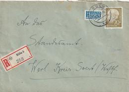 R - Brief Bund Köln Vom 28.12.1954 - Gebruikt