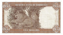 RHODESIA P. 36b 5 D 1978 UNC - Rhodesia