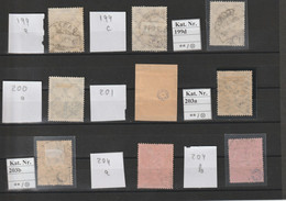 DR Lot Aus MNr. 199 - 204  Gest. Geprüft - Used Stamps