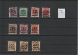DR Kleines Lot Gest. Infla Geprüfte Marken (2) - Used Stamps