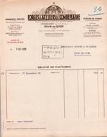 Facture - RIVE-DE-GIER - FORGES & ATELIERS De COMBEPLAINE - J.Tournigand ... - 1938 - Otros
