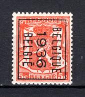PRE308B MNH** 1936 - BELGIQUE 1936 BELGIE - Tipo 1936-51 (Sigillo Piccolo)