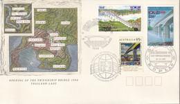 Australia 1994 Friendship Bridge Sc 1374 FDC - Cartas