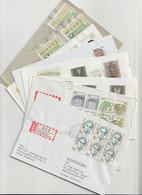 Bundesrepublik Deutschland - 8 Briefe (dabei Reco, Automatenmarken, FDC .......) (1265-40) - Collections