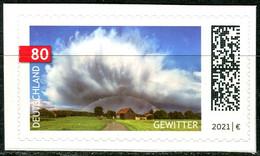 BRD - Mi 3617 Gestanzt Aus FB 107 ✶✶ # - 80C      Himmelserscheinungen, Gewitter,  Ausg.: 01.07.2021 - Unused Stamps